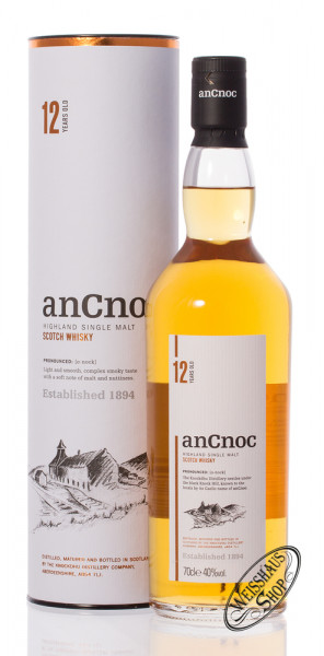 AnCnoc 12 YO Highland Single Malt Whisky 40% vol. 0,70l