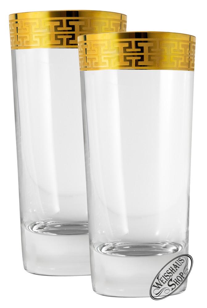 Zwiesel Kristallglas AG Schott-Zwiesel Hommage Gold Classic Longdrink gro� Set 2 Gl�ser