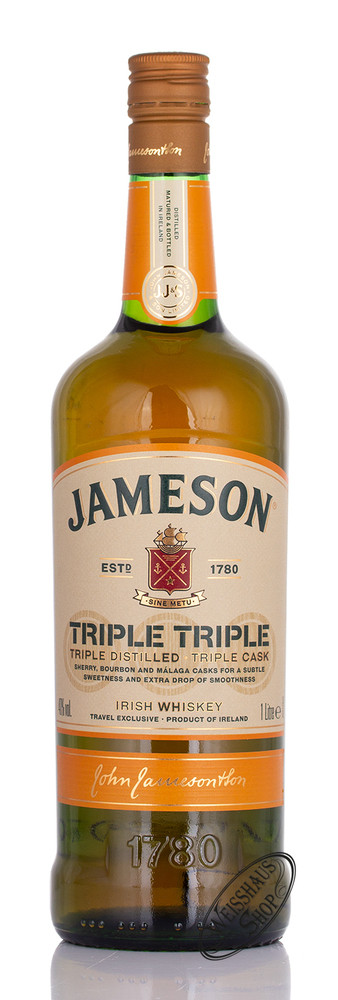 Jameson Triple Triple Irish Whiskey 40% vol. 1,0l