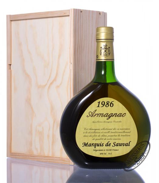 Marquis de Sauval Millésimé 1986 Armagnac 40% vol. 0,70l