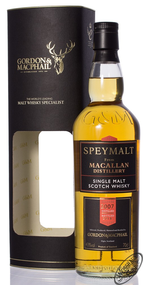 Macallan Speymalt Gordon & MacPhail Vintage 2007/2016 Whisky 43% vol. 0,70l