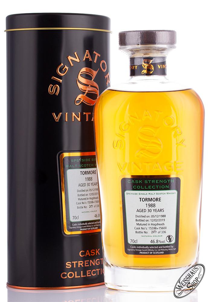 Tormore Vintage 1988 Signatory Whisky 46,8% vol. 0,70l