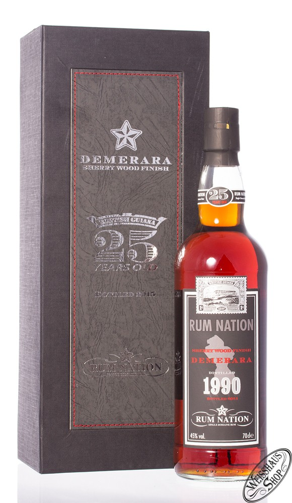 Rum Nation 1990 Demerara 25 YO Rum 45% vol. 0,70l