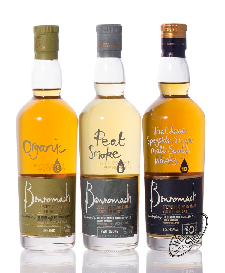 Benromach Whisky Trio 3 x 0,20l 44% vol. 0,60l