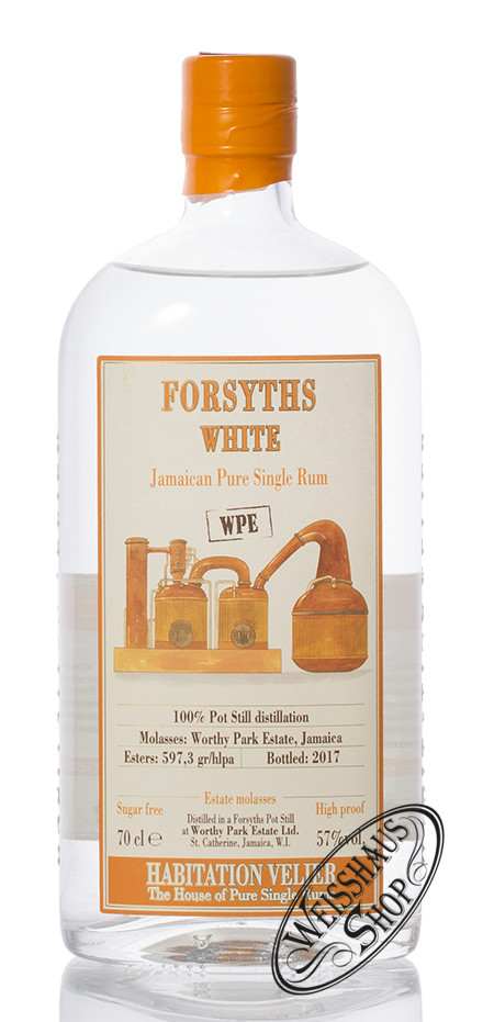 Habitation Velier WP Forsyths White Rum 57% vol. 0,70l
