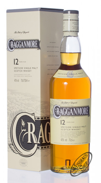 Cragganmore 12 YO Single Malt Whisky 40% vol. 0,70l