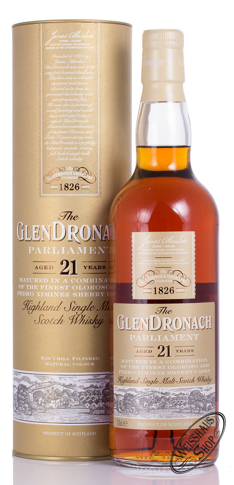 Glendronach 21 YO Parliament Whisky 48% vol. 0,70l