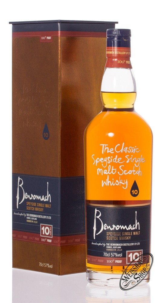 Benromach 10 YO 100 Proof Whisky 57% vol. 0,70l