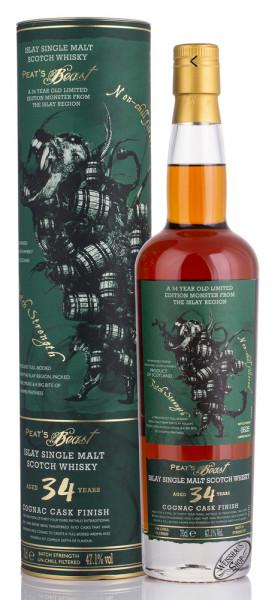 Peat's Beast 34 YO Cognac Cask Finish Whisky 47,1% vol. 0,70l