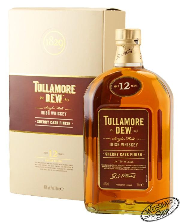 Tullamore Dew 12 YO Sherry Cask Finish Whiskey 46% vol. 1,0l