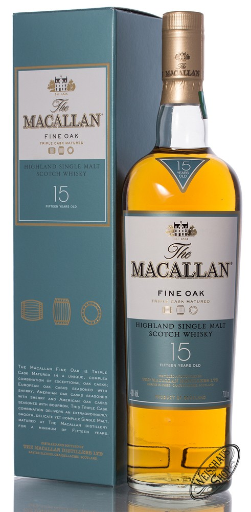 Macallan 15 YO Fine Oak Whisky 43% vol. 0,70l