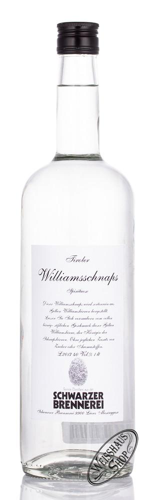 Schwarzer Williams Schnaps 40% vol. 1,0l