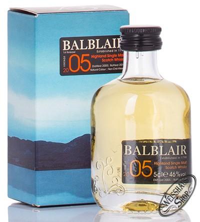 Balblair Vintage 2005 Whisky Miniatur 46% vol. 0,05l