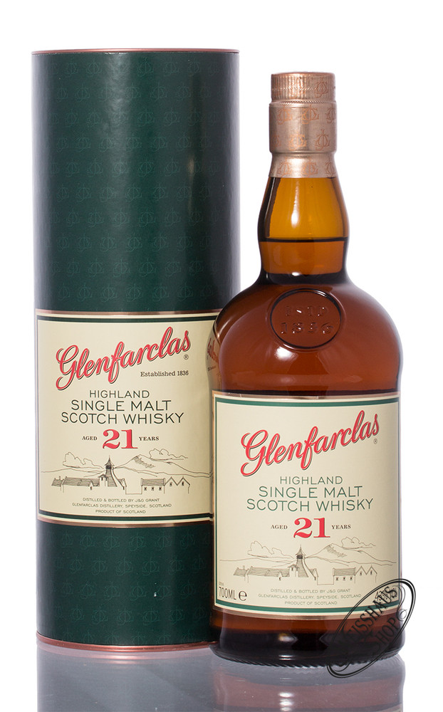 Glenfarclas 21 YO Single Malt Whisky 43% vol. 0,70l