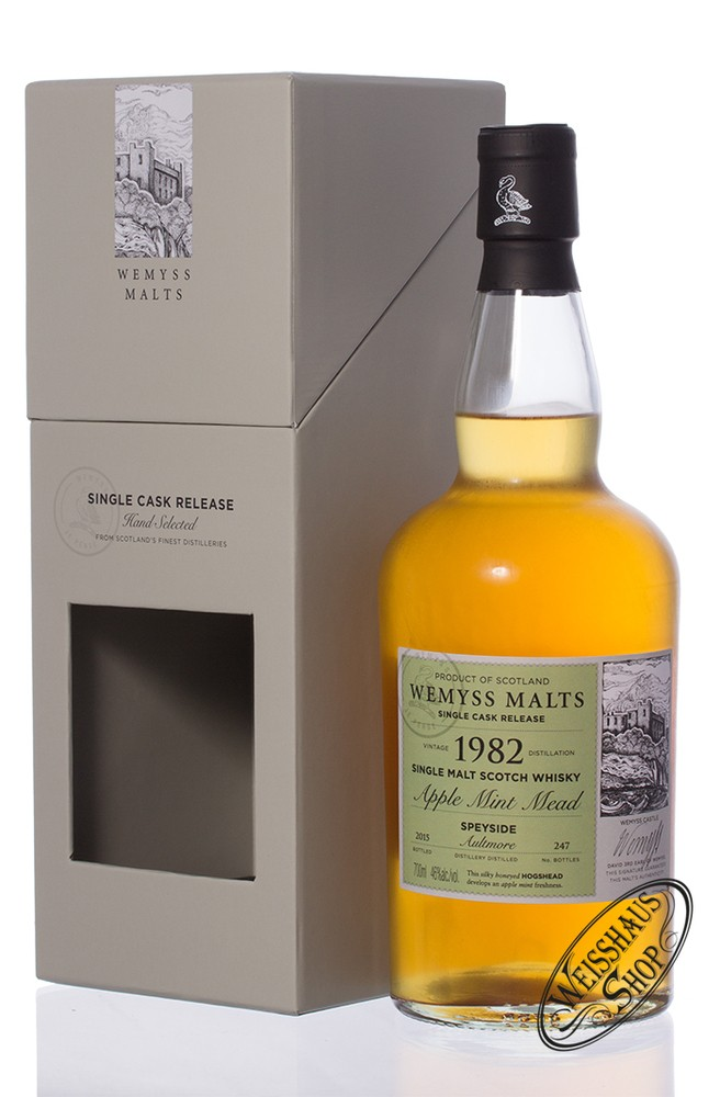 Aultmore Vintage 1982 Wemyss Apple Mint Mead 33 YO Whisky 46% vol. 0,70l