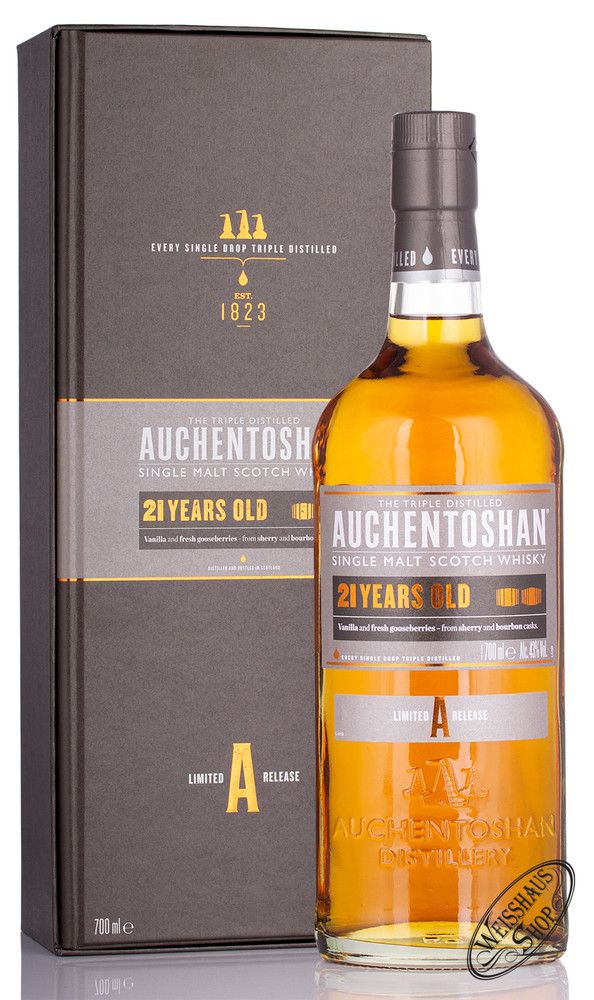 Auchentoshan 21 YO Whisky 43% vol. 0,70l