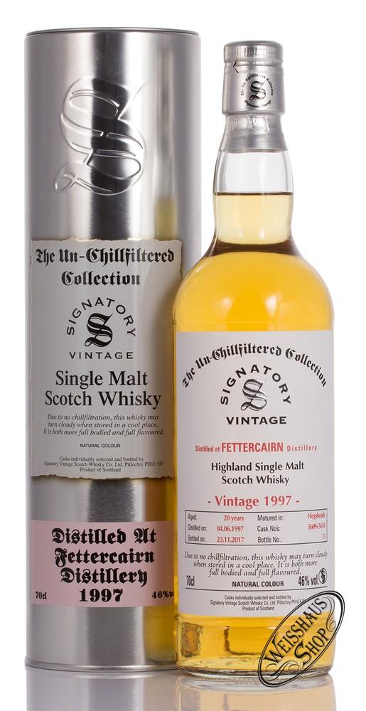 Fettercairn Vintage 1997 Signatory Un-Chillfiltered Whisky 46% vol. 0,70l