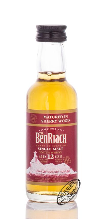 BenRiach 12 YO Sherry Matured Whisky Miniatur 46% vol. 0,05l