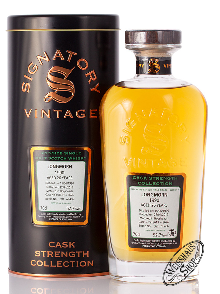Longmorn Vintage 1990 Signatory Whisky 52,7% vol. 0,70l