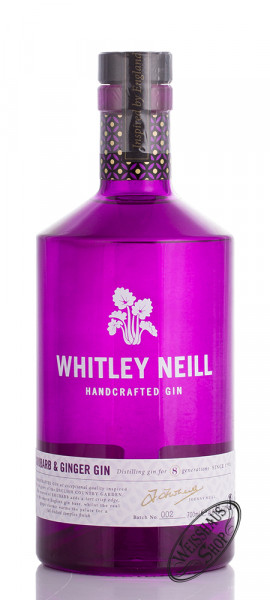 Whitley Neill Rhubarb & Ginger Gin 43% vol. 0,70l