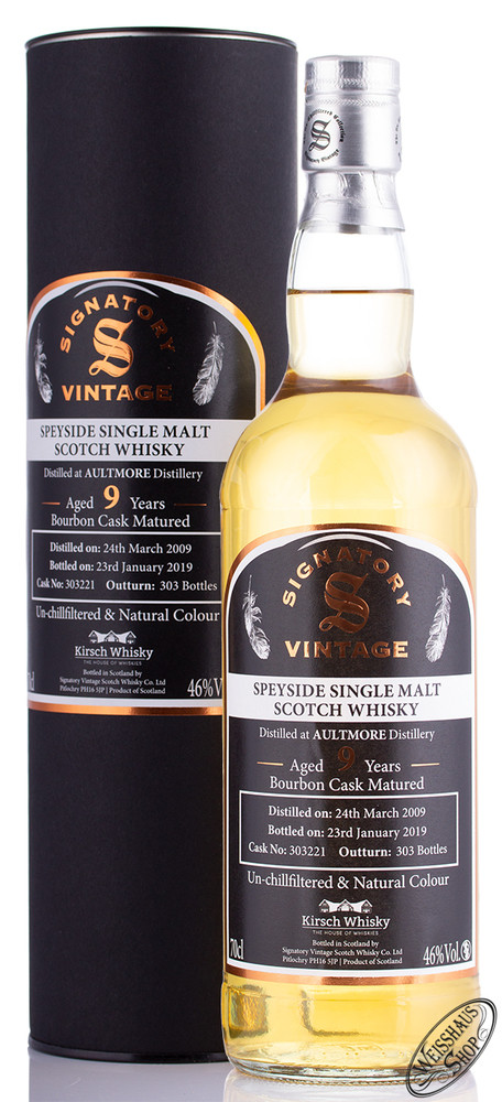 Aultmore Vintage 2009 Signatory Un-Chillfiltered Whisky 46% vol. 0,70l