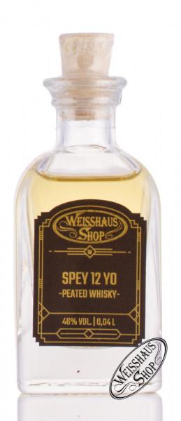 Spey 12 YO Peated Single Malt Whisky 46% vol. 0,04l Weisshaus Sample