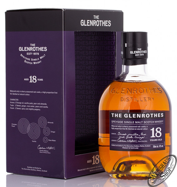 The Glenrothes 18 YO Whisky 43% vol. 0,70l