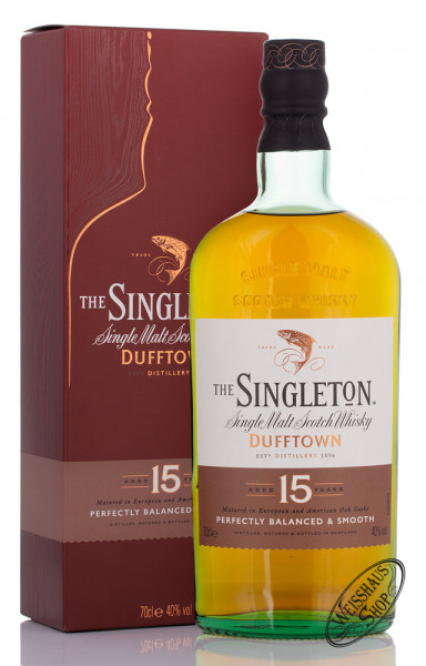Singleton of Dufftown 15 Years Old Single Malt Whisky 40% vol. 0,70l