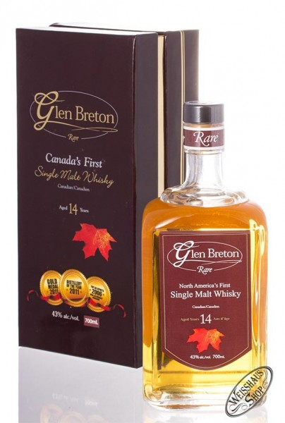 Glen Breton 14 YO Canadian Single Malt Whiskey 43% vol. 0,70l