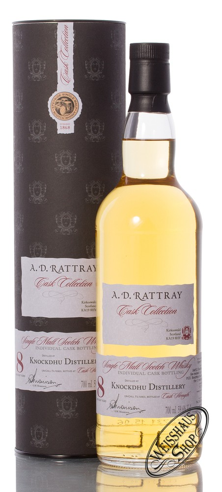 AnCnoc Knockdhu 8 YO A.D. Rattray Whisky 59,6% vol. 0,70l