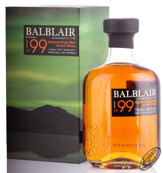 Balblair Vintage 1999 Highland Single Malt Whisky 46% vol. 0,70l