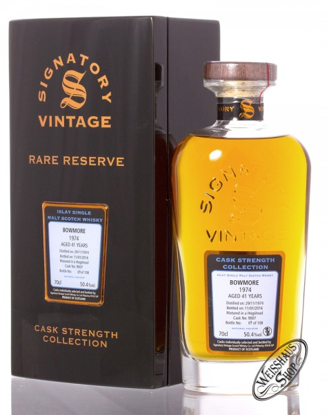 Bowmore Vintage 1974 Signatory Rare Reserve Whisky 50,4% vol. 0,70l