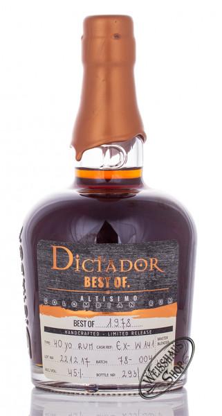Dictador Best of 1978 Rum 45% vol. 0,70l
