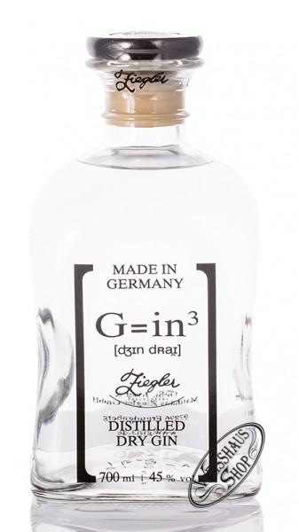 Ziegler G=in³ Classic Dry Gin 45% vol. 0,70l