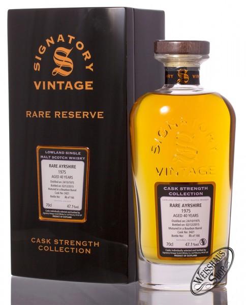 Ayrshire Vintage 1975 Signatory Rare Reserve Whisky 47,9% vol. 0,70l