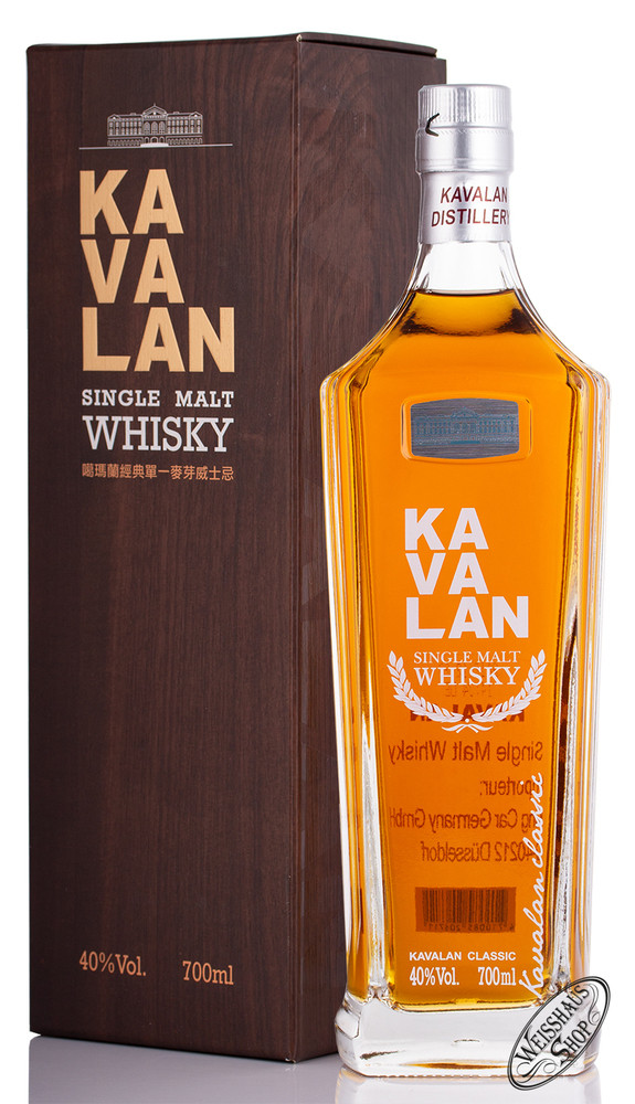 Kavalan Single Malt Whisky 40% vol. 0,70l