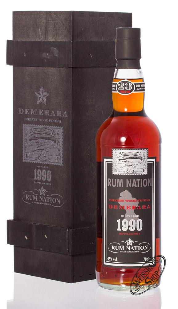 Rum Nation 1990 Demerara 23 YO Rum 45% vol. 0,70l