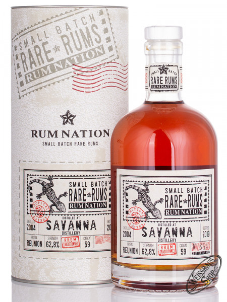 Rum Nation Rare Rum Savanna 2004 - 2019 62,8% vol. 0,70l