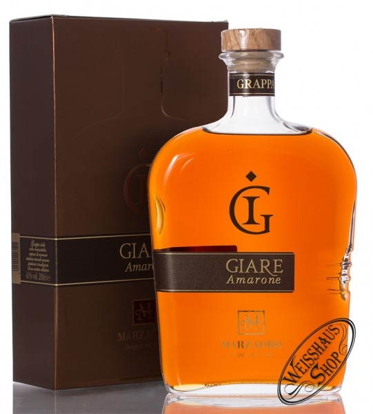 Marzadro Grappa Le Giare Amarone 41% vol. 2,0l