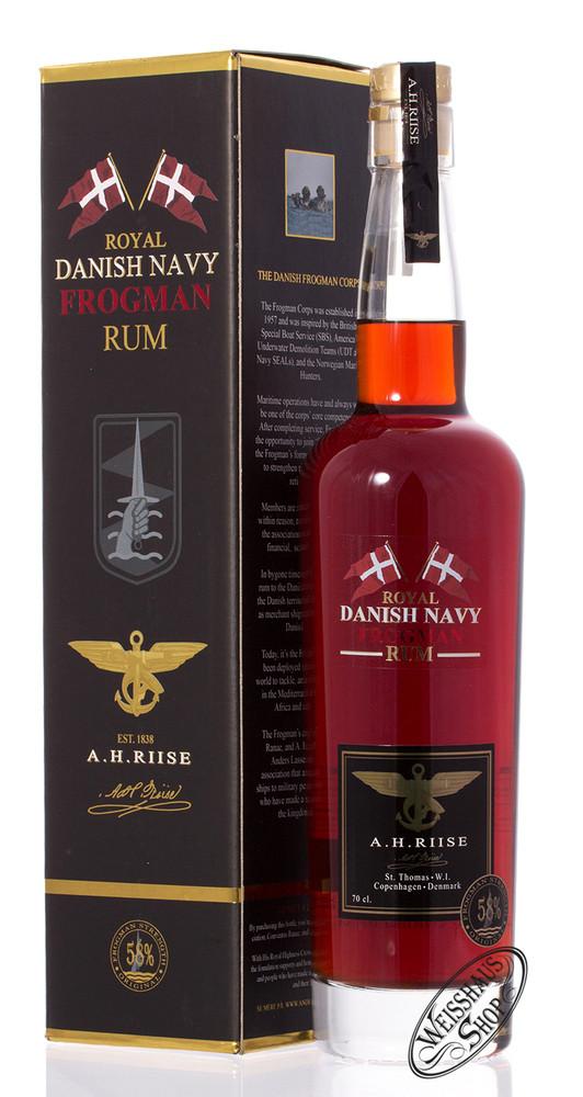 A.H. Riise Frogman Danish Navy Rum 58% vol. 0,70l