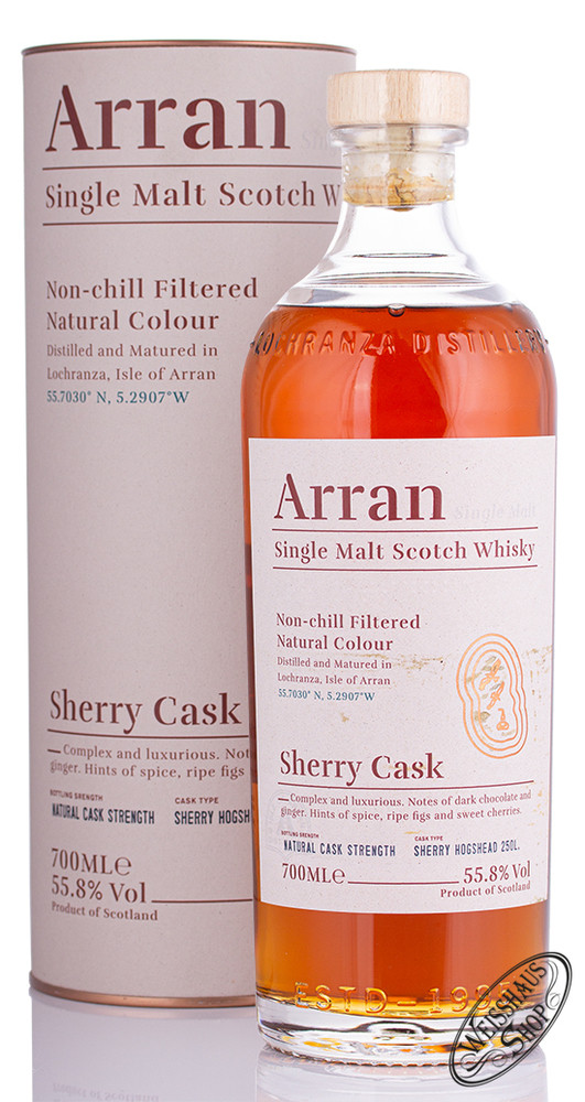The Arran Sherry Cask The Bodega Whisky 55,8% vol. 0,70l