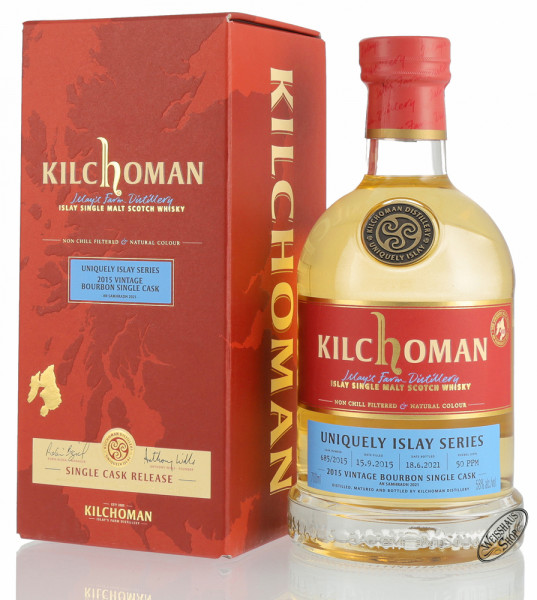 Kilchoman Vintage 2015 Bourbon Cask Islay Whisky 58% vol. 0,70l