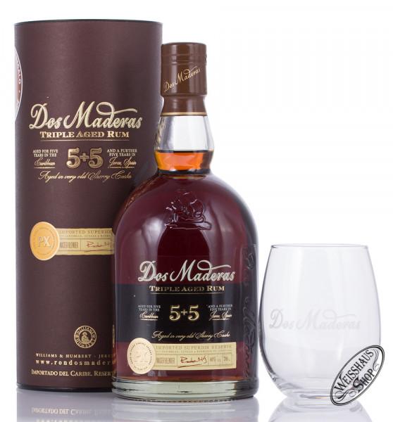 Dos Maderas PX 5 + 5 Rum Geschenk-Set 40% vol. 0,70l