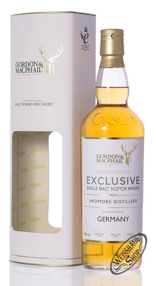 Ardmore Vintage 1997 Gordon & MacPhail Whisky 46% vol. 0,70l