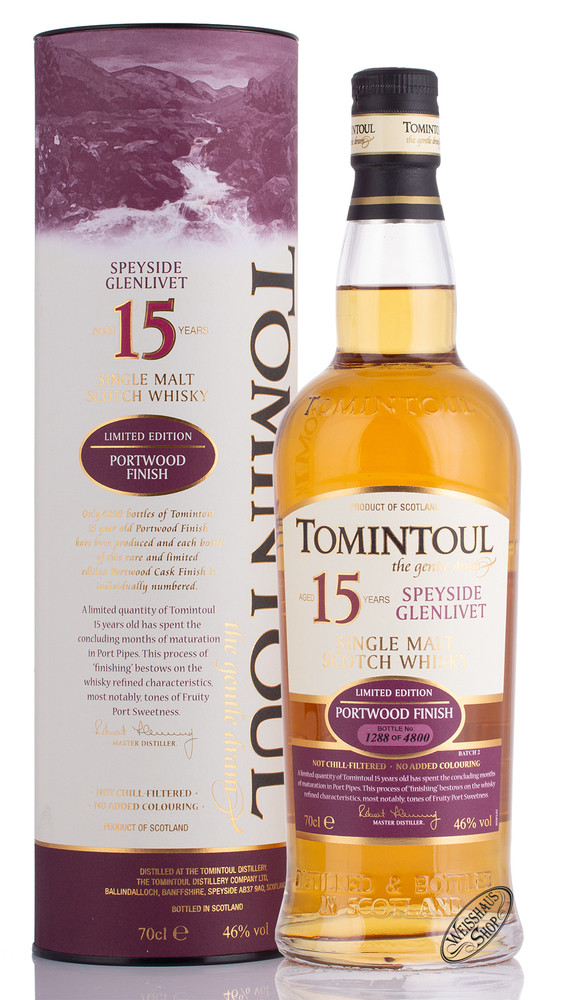 Tomintoul 15 YO Port Wood Whisky 46% vol. 0,70l