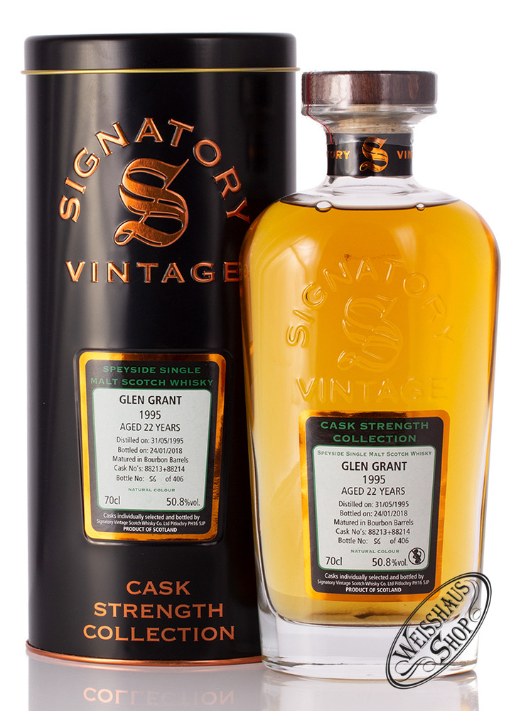 Glen Grant 1995 Signatory Whisky 50,8% vol. 0,70l