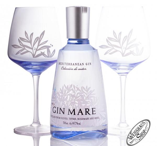 Gin Mare Gin mit Balloon Gläsern 42,7% vol. 0,70l