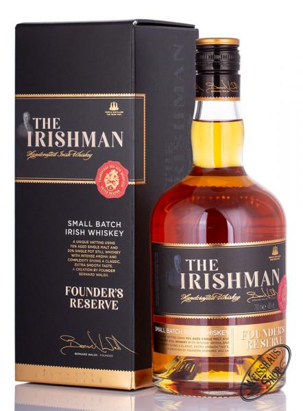 The Irishman Founders Reserve Irish Whiskey 40% vol. 0,70l