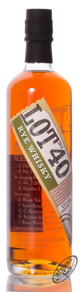 Lot 40 LOT No. 40 Canadian Rye Whisky 43% vol. 0,70l