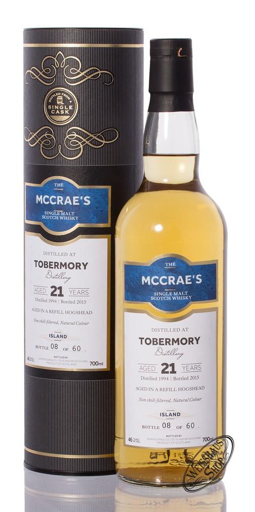 Tobermory 21 YO McCrae's Whisky 46% vol. 0,70l